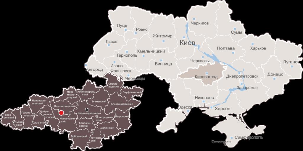 карта Украины Анастасиевский гранит